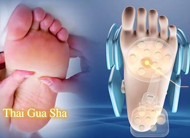 massage guasha pour les pattes des pieds